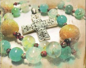 prayer bead bracelet with cross
